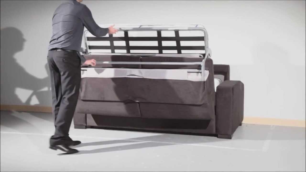Exceptionnel Démonstration du canapé convertible Palerme - YouTube RV86