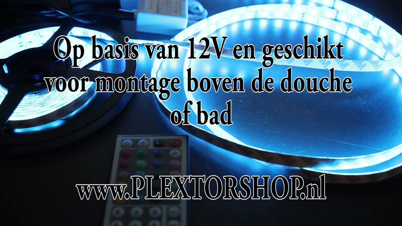 RGB LED Verlichting op rol - YouTube