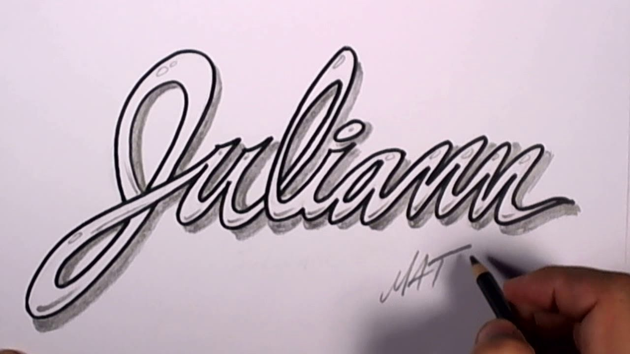 Graffiti Writing Juliann Name Design 50 in 50 Names