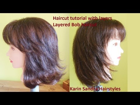 Medium Long Length Layered Bob Haircut