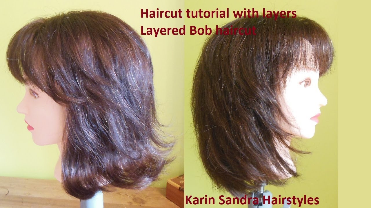 Long layered haircut tutorial | Medium long length layered Bob ...