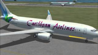FSX Caribbean Airlines Jfk to Piarco
