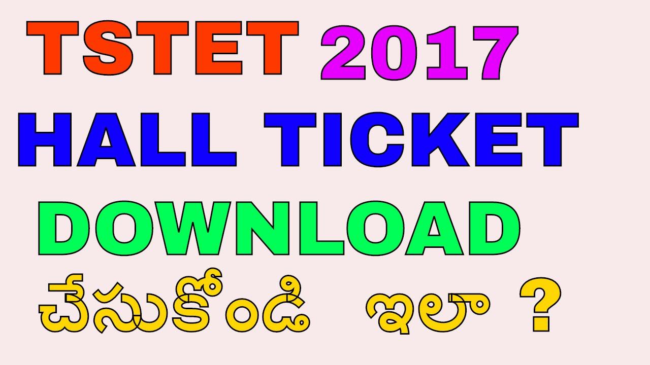 ts tet hall ticket download 2019