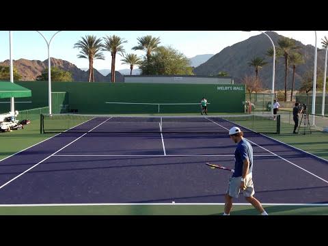 Janko Tipsarevic And Juan Monaco Indian Wells BNP Paribas Open Practice 3/5/13