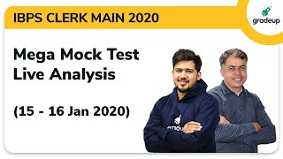 IBPS Clerk Main 2019-20 All India Mock: Live Video Analysis