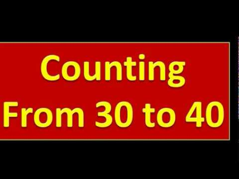 Counting From 30 To 40 || Nursery Kids