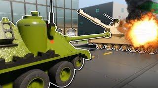 2v2 TANK BATTLE! - Brick Rigs Multiplayer Gameplay - Lego Tank Battle challenge