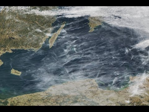 Satellite images show the spread of aerosol toxins from aircraft - movie to all politicians