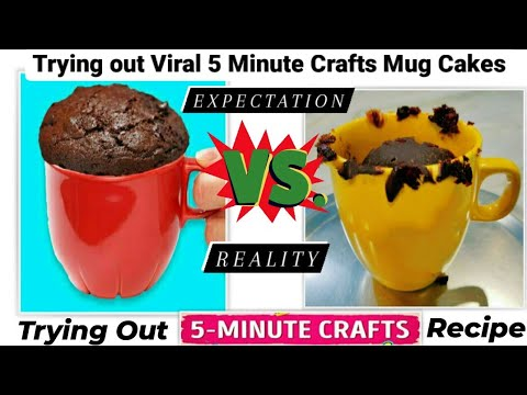 Testing Out Viral Food Hacks By 5 MINUTE CRAFTS | Trying out 5 Minute Crafts Viral Mug Cake Recipes