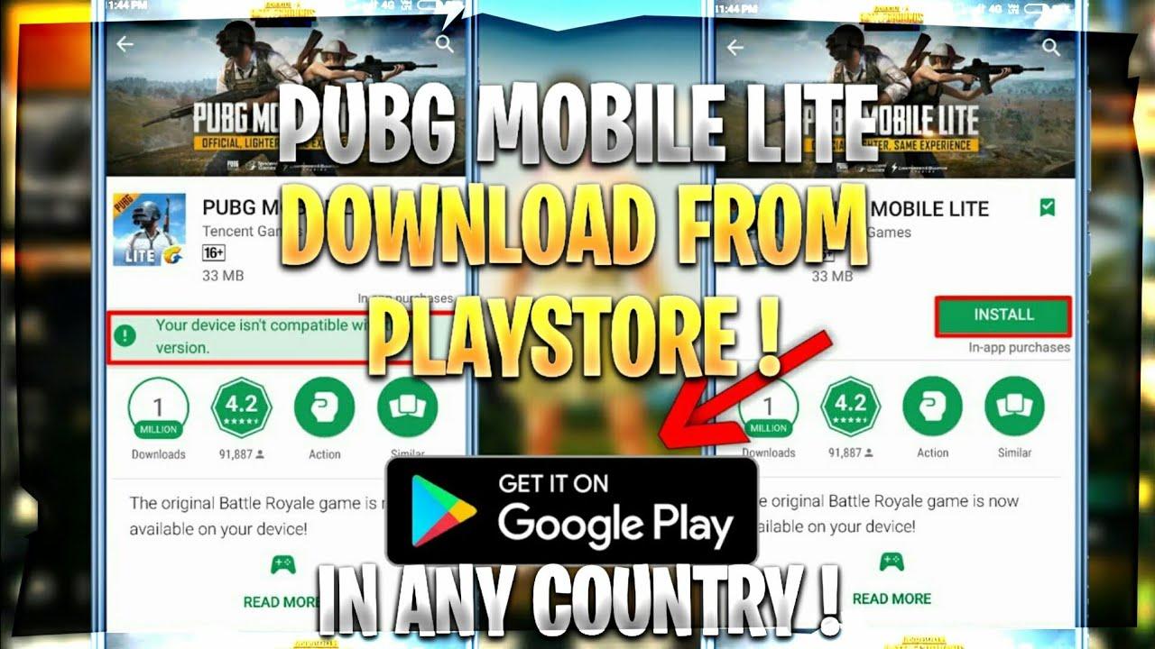 pubg lite download play store