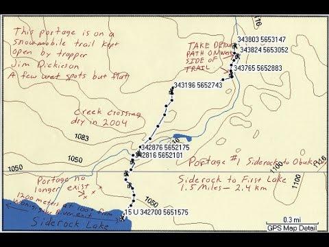 Siderock To Obukowin Portages