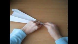 видео урок как сделать бумажный самолётик стрела|| Classek show ||