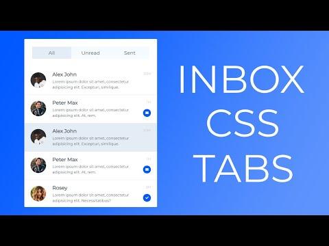 Tabs Using HTML CSS And Javascript -- Inbox CSS Tabs -- Tabs