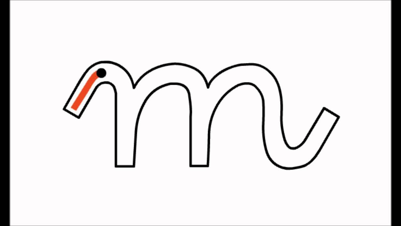 cursiva letras m