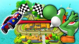 The NEW Mario Kart MAP on Rocket League!!