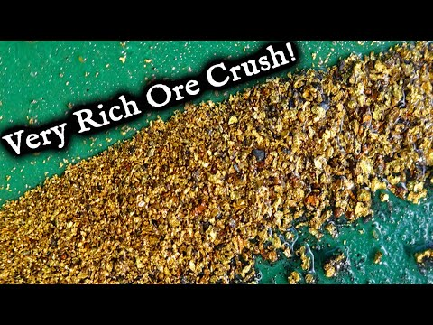 Very Rich Gold Ore Crushed And Processed.  Nice Surprise!