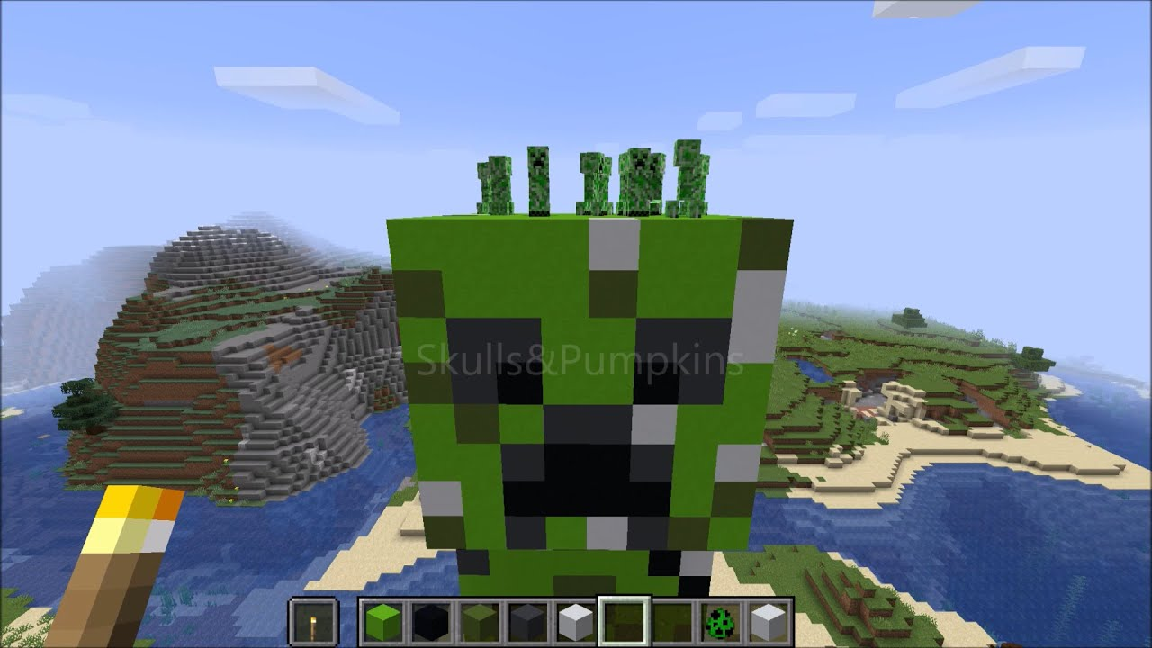 Im Building A Giant Creeper Minecraft Pixel Art 3d Timelapse 1