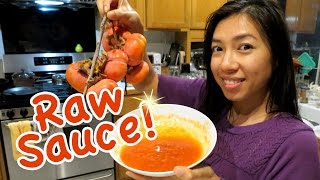 Raw Persimmon Sauce! Vegan!