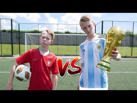 Messi VS Ronaldo WORLD CUP FOOTBALL CHALLENGE!