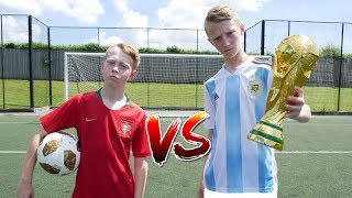 Messi VS Ronaldo WORLD CUP FOOTBALL CHALLENGE!