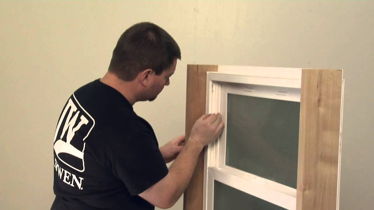How To Replace A Vent Stop For A Vinyl Tilt Hung Window