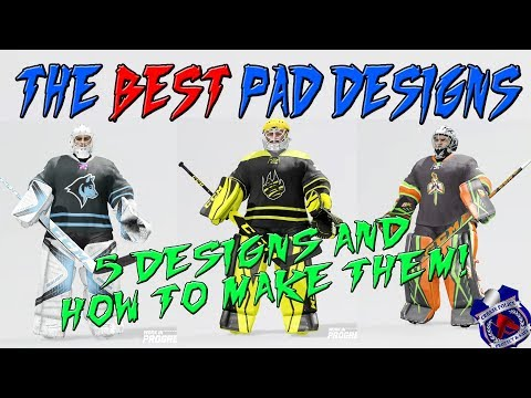 NHL 18 - The BEST Goalie Pad Designs and How to Make Them