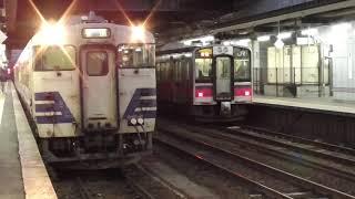 JR弘前駅 奥羽本線 弘前行き到着【701系・664M】 2020.12.12