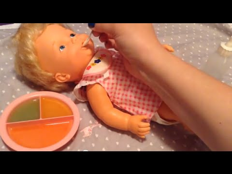 Vintage 1979 BABY ALIVE Doll Feeding And Changing Video