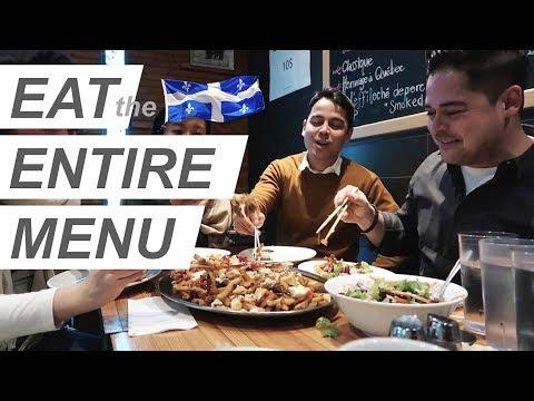 we ate the ENTIRE MENU - Quebec Food!