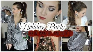 Holiday Party Hair, Makeup, and Outfit ❄ Thumbnail