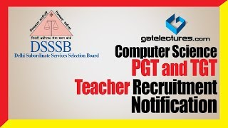 DSSSB Computer Science PGT and TGT Teacher Recruitment Notification dsssb prt syllabus