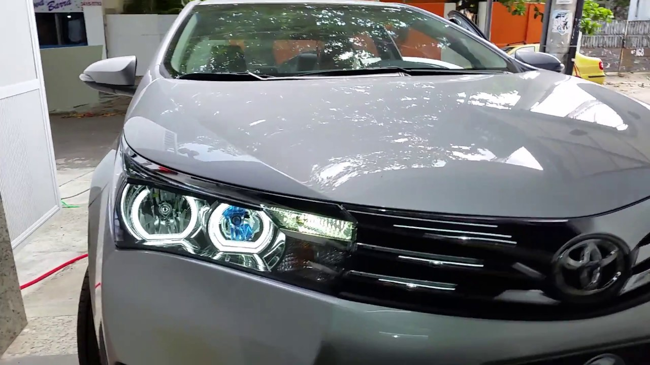 Angel Eyes Bmw Style Led Toyota Corolla 2015 Branco
