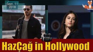 Çağatay Ulusoy & Hazal Kaya sign contracts in Hollywood