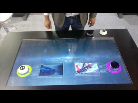 Tangible Bar - Multi Point Touch Table By Oorja Interactive