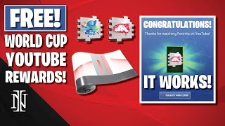 How To Get FREE YouTube REWARDS in Fortnite | IT WORKS! | World Cup 2019