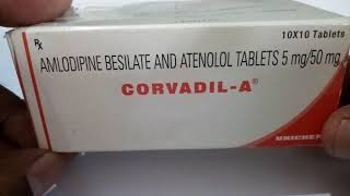 Corvadil-A 5mg/50mg Tablet - Uses, Side Effects, Substitutes