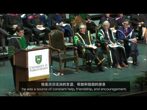 Bob Xu Convocation Address at the University of Saskatchewan