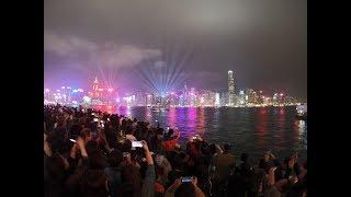 A Symphony of Lights ดูการแสดงไฟตึกที่ฮ่องกง