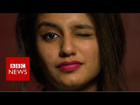 Priya Varrier: The actress whose wink stopped India - BBC Ne