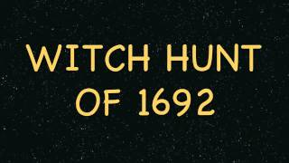 WITCH HUNT OF 1692 by Rob Grice