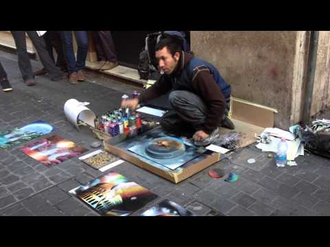 amazing spray paint art Rome Italy