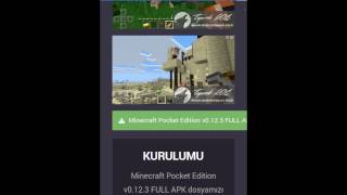 Android bedava minecraft indirme