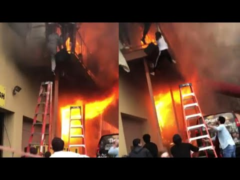 Girls Jump From Balcony to Escape as Fire Engulfs Dance Studio