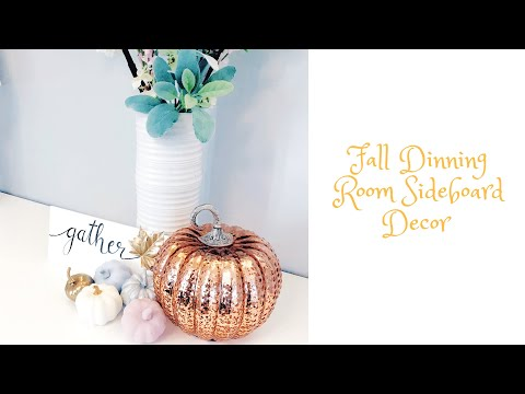 Home Decor| Sideboard Autumn/Fall Decor| Simple and Beautiful On A Budget