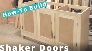 behind the scenes making a shaker cabinet door on a table saw