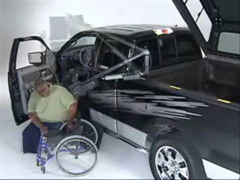 Wheelchair Lift For Truck X Games Pickup Clock Conversions Youtube