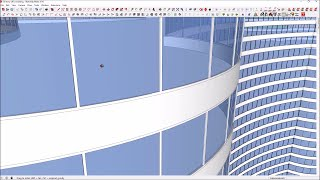 how to draw a beautiful curved facade of high rise office building in sketchup in 1 hour