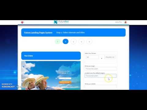 FutureNet Landing Page setup
