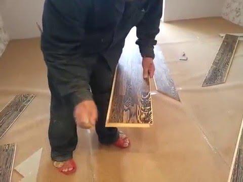 Установка порога между ламинатом и плиткой - YouTube