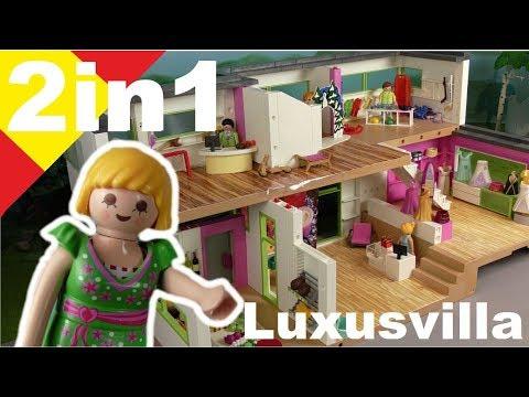 Playmobil Especial 2 en 1  La villa de lujo como centro comercial - Familia Hauser